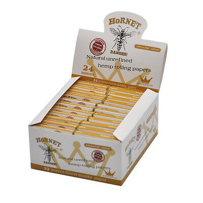 HORNET King Size Unrefined Natural White Tobacco Rolling Papers With Paper Tips