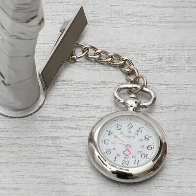Nurse Watch Brooch Tunic Fob Stainless Steel Watches Pocket Pendant Quartz