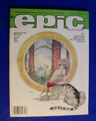 Epic Illustrated 28 Feb 1985.  Mark Bode,  Galactus by Byrne, Cerebus Sim.  VFN+