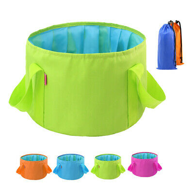 AM_ EE_ Portable Water Basin Folding Washbowl Collapsible Sink Travel Camping Bu