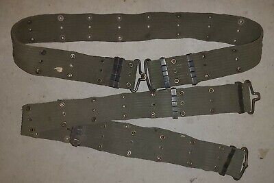 M1956 Patt Web Belt Horizontal Weave - Us Army Vietnam Issue Used  Condition