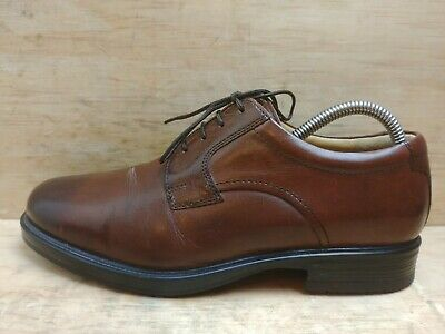 Pavers York Men's Brown Leather Lace up Fashion Shoes size UK 7 EU 41