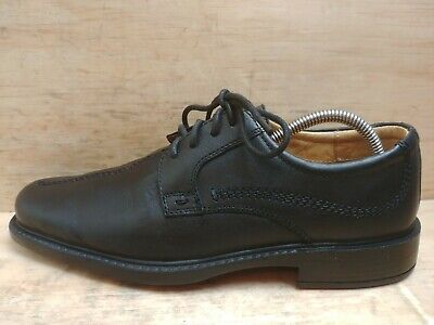 George Ultra Comfort Mens Black Leather Lace up Shoes Size UK 7 EU 41