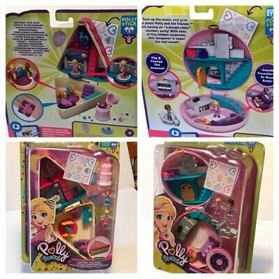 ++ X2 Polly Pocket Compact Miniature Party Playsets MOC ++