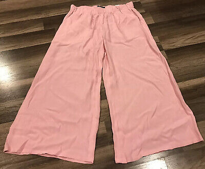 Express Mid-rise Cropped Culottes Barbie Pink New With Tags