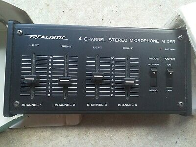 4 Channel Stereo Mike Mixer Portable
