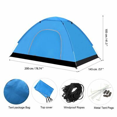 3-4 Person Foldable Waterproof Automatic Instant Pop Up Tent Camping Hiking Tent