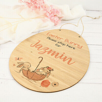 Personalised Easter Egg Printed Wooden Sign