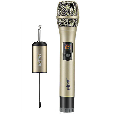 Professional Handheld Wireless Microphone UHF Mic W/Receiver For Karaoke Speech