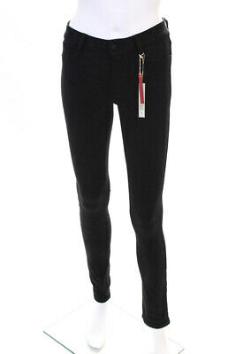 Level 99 Womens Liza Casual Mid Rise Skinny Slim Leggings Pants Black Size 25
