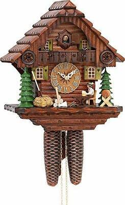 Cuckoo Clock Authentic Black Forest Chalet House 8-Day Movement by Hekas New