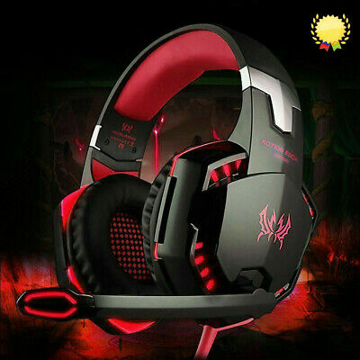 3.5mm Gaming Headset MIC LED Headphones G2000 for PC Laptop PS4 Xbox One Red