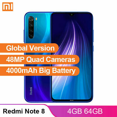 Xiaomi Redmi Note 8 Global 4+64GB MIUI10 Snapdragon 665 OctaCore 4G Mobile Phone