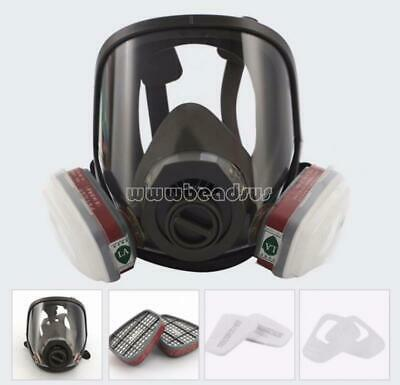 6800 Full Face Gas Mask Protect Painting Spraying Anti-dust Facepiece Respirator