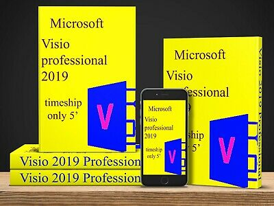 Visio 2019 Professional For 1 PC Official License Ms, key+Download Link, Instant