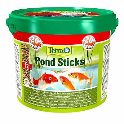 10 Litre + 20% Extra Free Tetra Pond Sticks Floating Koi Fish Food Daily Diet L