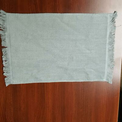 """Towel Overstock, 11"""" x 18"""" - 432 Silver 100% Cotton Velour, Fringed"""