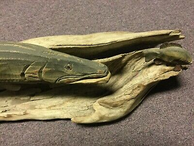 Hand Carved Wooden Fish from Pine Creek Carvers