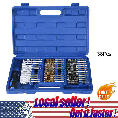 20pc Industrial Quality Wire Brush Set Extra Long Reach Pro Abrasives Tool Kit
