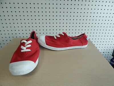 Youth Girls Shoes - TOMS - Red/white - youth size 6