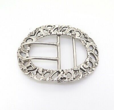 .Antique Britton Gould & Co B.G & Co 1899 Sterling Silver Belt Buckle 34g