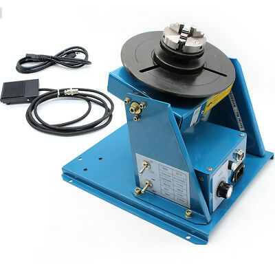 """Rotary Welding Positioner Turntable Table 2.5"""" 3 Jaw Lathe Chuck 2-10r/min 110V"""