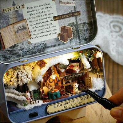 DIY Handcraft Miniature Project Kit Tin Box Theatre Series Dolls House Gift