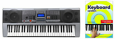 Digital 61 Tasten Keyboardschule E-Piano USB MP3 100 Sounds & Rhythmen Lernen