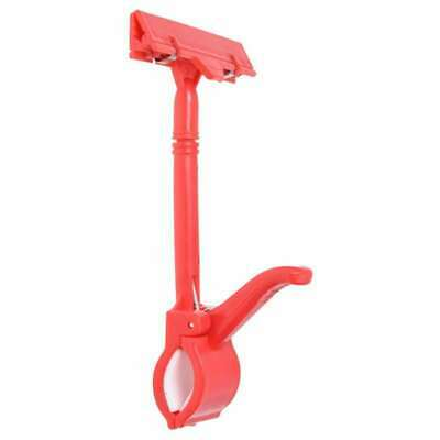 4X(Merchandise Retail Sign Card Price Tag Pop Display Holder Clip Clamp Red 7T7