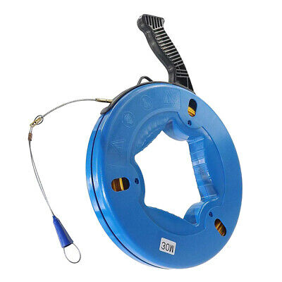 30MDurable Fiberglass Cable Snake Duct Rodder Fish Tape Puller for Electrician