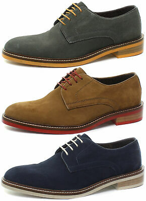 London Brogues Stanley Suede Mens Lace Up Derby Shoes ALL SIZES AND COLOURS