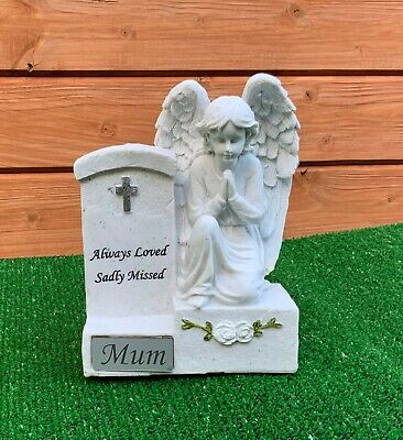 Angel by Headstone for for MUM  Grave cemetery memorial ornament Mothers Day