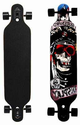 ChromeWheels Skateboards 41 inch Longboard Drop Through Deck Complete Cruiser