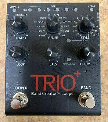 *Digitech Trio+ Band Creator + Looper Effects Pedal Free Shipping