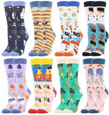 Women's Girls Novelty Funny Crew Socks,Crazy Cute Animal Food Design Socks Cotto