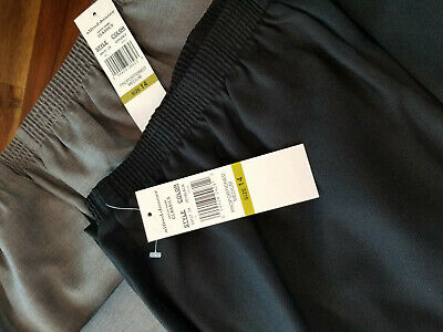 2 Pair Alfred Dunner Pants NWT Size 14 Never Worn Gray Black Womens Classic