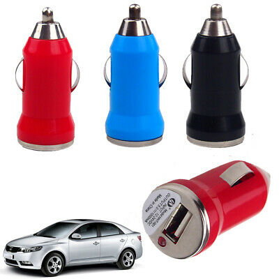 Pocket Auto Universal Car Charger Single USB Cigarette lighter Power Adapter