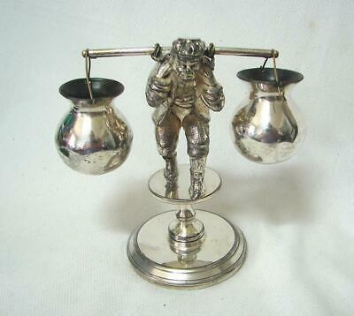 SCARCE Antique victorian figural open salt James Tufts Boston Silver Plated