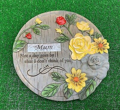 Memorial flower plaque for MUM Grave cemetery memorial ornament mothers day