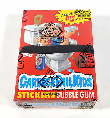 1986 Topps Garbage Pail Kids Ser 6 Box +Poster w/o price (48) XOut BBCE Wrapped