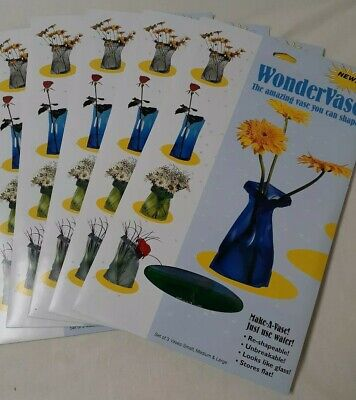 Lot of 5 WonderVase  3 per pack New in Package Shapable Unbreakable