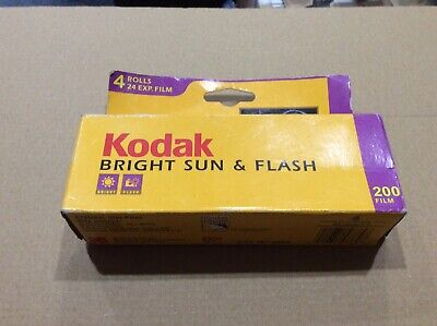 Kodak Bright Sun & Flash 200 Gold 35 mm Color Film 24 Exp 4 Rolls Box  EXP 11/03