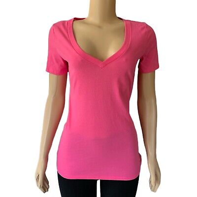VICTORIAS SECRET Pink Everyday V-Neck Short Sleeve Tee T-shirt Top