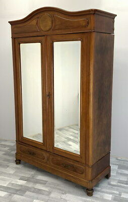 Impressive Antique French  Armoire Wardrobe with mirrors