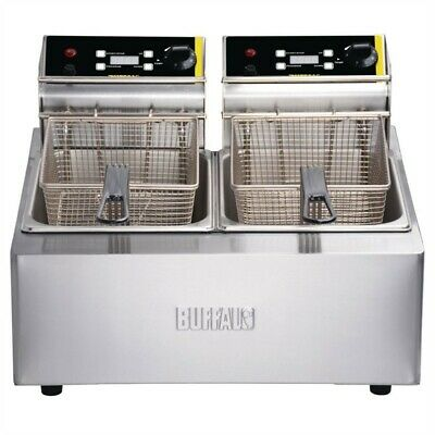 Buffalo Double Fryer with Timer 2 x 5L