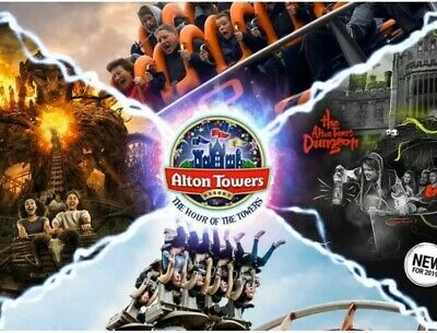 2 X Alton Towers Tickets All 9 Sun Savers Codes-Pick Your Own Dates