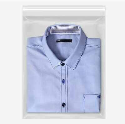Poly Bags Resealable Clear Merchandise Reclosable Bag 1.5 mil Shirt Apparel