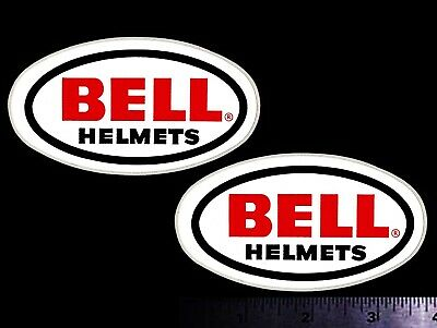 BELL HELMETS - Set of 2 Original Vintage 1970's Racing Decals/Stickers