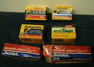 Vintage (6) Sealed KODAK KODACOLOR Gold and Viking Print Film EXPIRED