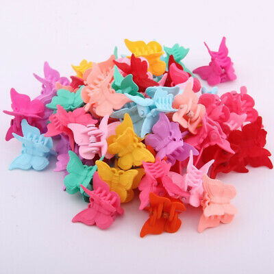 Girls Mixed Color Butterfly Hair Clips Hair Claws Mini Hairpins For Kids Baby